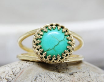 SUMMER SALE - turquoise ring, gold ring,delicate ring, turquoise jewelry, gemstone ring, 14k gold fill ring, December birthstone