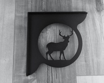 DECORATIVE DEER PROFILE Shelf Brackets (set of 2)