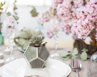 Wedding table decor Wedding planter Geometric glass box Candle holder Glass ring box Geometric Wedding / T11