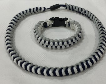 Snake knot paracord necklace and bracelet set