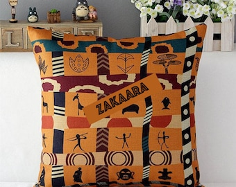 AFRICAN Print Cushion Cover- African Home Decor, throw pillow cover Fits IKEA (50 x 50cm)