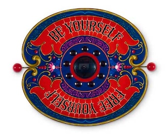 Be Yourself - Poster - Sign painting, fileteado, butterfly, flowers, psychedelic letters