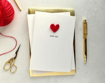 Love you card - Card for husband - Card for wife - Card for girlfriend - card for boyfriend  - Valentines card - Your own text card