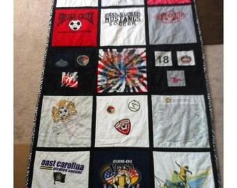15 T-Shirt Memory Quilt