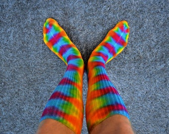 Tie dye Socks, Bamboo Socks, Cool Socks, Rainbow Socks, Colorful Socks, Hippie Socks, Happy Socks, Happy Feet, Bitcoin Accepted,