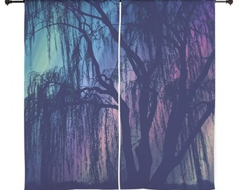 Sheer Curtains - Weeping Willow, Treescape, Home Decor, Redwoods, nature photography by RDelean Designs