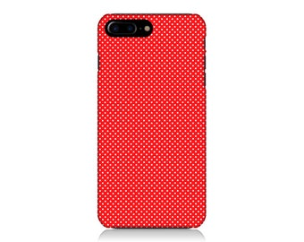Christmas iPhone Case, Polka Dot iPhone Case, Red iPhone Case, iPhone 6s Case, iPhone 7 Case, Galaxy S7 Case, Galaxy S8 Case, Gift Idea