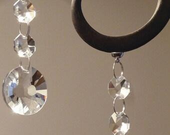 Hanging chandelier etsy 10 pc silver magnets 6mm x 6mm hanging magnets for decorating metal vases chandelier candelabra jewellery mozeypictures Images