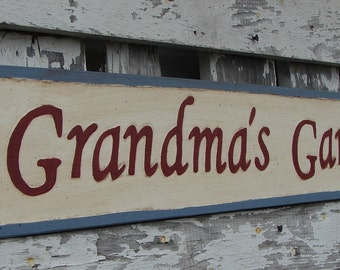 Grandma's Garden sign