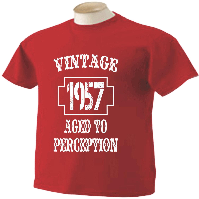 Famoso t-shirt di 60 compleanno 60 anni vecchio Vintage 1957 UO59