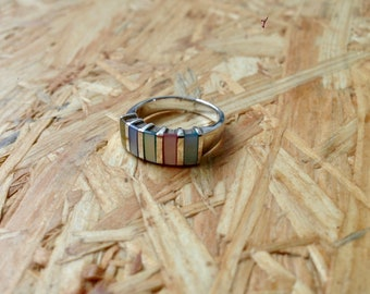 Neutral Tone Multi Colored Ring Sz. 6