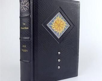 The Silmarillion J.R.R. Tolkien leather-bound English Edition 1977 handbound