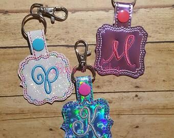Blank Monogram Shape Set Key Fob embroidery design digital instant download