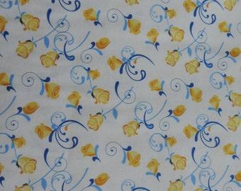 A yellow rosebud fabric.