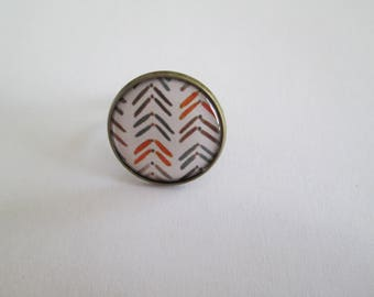 RING BRONZE CHEVRON