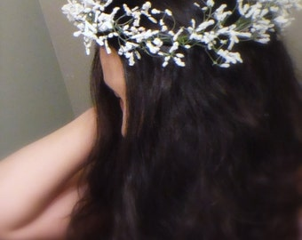 Baby's Breath Crown, Floral Crown, Flower Crown