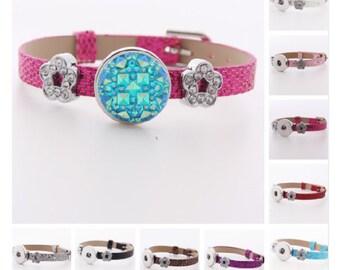 Flower snap bracelet