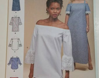 Simplicity Sewing Pattern 8296 Plus-Size Women's Dress, Top or Tunic U.S. Sizes 20W-28W