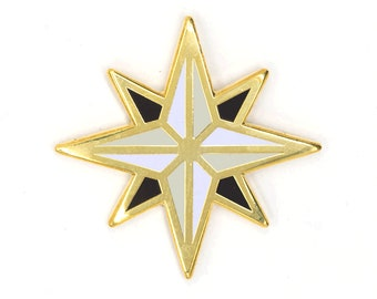 Compass Rose Enamel Pin