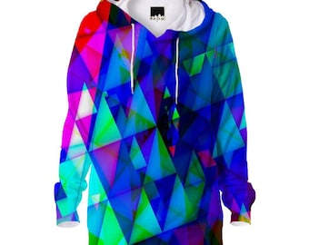 Fraktalia Hoodie 3d Psychedelic design mandala Art UV Black light!