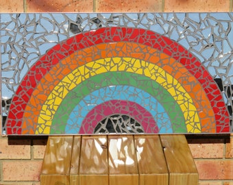 Hand made Rainbow Mosaic