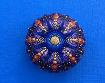 Mandala Stone, big, hand painted