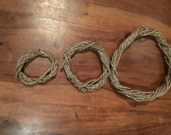 THREE PACK Seagrass Wreaths For Rabbits, Guinea Pigs, and Small Animals