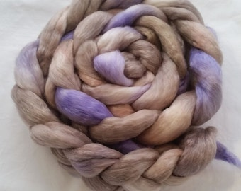 Crying in the Rain on Merino/Tencel - Hand dyed roving