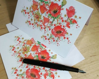Poppy Greetings Card