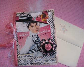 My Fair Lady Card, Audrey Hepburn, Vintage Style, I Could Have Danced All Night