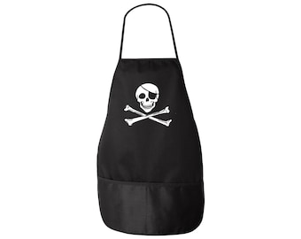 Pirate Apron - Classic Jolly Roger