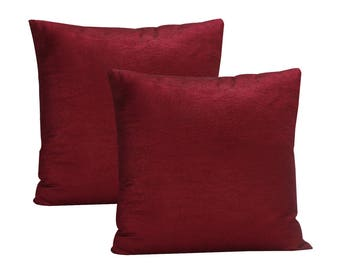 Burgundy Pillow Cover, Set of 2 Pillow Covers