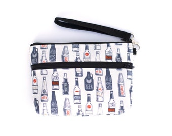 Craft Beer Wristlet with removable strap