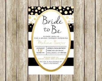Olive Branch Bridal Shower Invitation Printable Bridal Shower