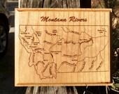 MONTANA RIVERS MAP Wall P...