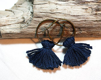Earrings * tassel * ultramarine blue