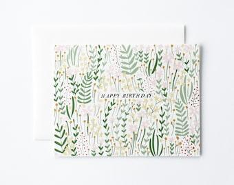 Birthday Card, Pretty Birthday Card, Floral Birthday Card