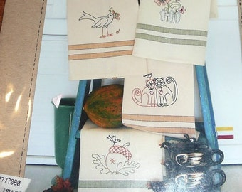 Bird Brain Designs Harvest Tea Towels Patterns