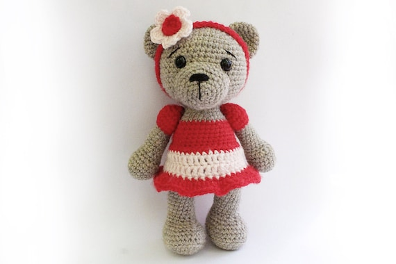 Amigurumi Teddy Bears : Pattern bear teddy bear girl amigurumi bear