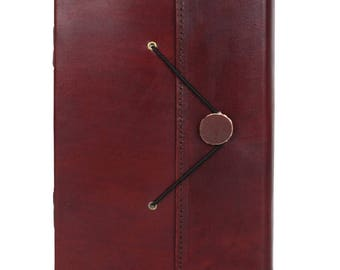 Handmade Vintage Antique Looking Genuine Leather Bound Journal Diary Notebook Travel book with blank Unlined pages to write for Men Women