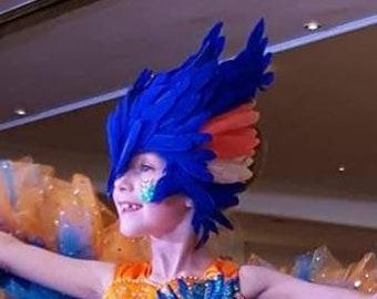 Kingfisher headpiece headdress feathered