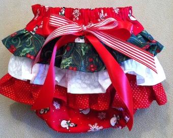 Holly Jolly Ruffle Bottom Diaper Cover