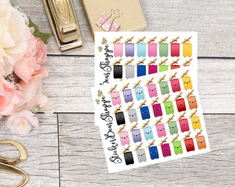 Travel Suitcase Planner Stickers - For Erin Condren Life Planner or Happy Planner