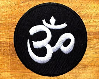 New Aum om infinity hindu hinduism yoga indian trance applique iron on patch