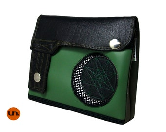 Quarter Moon, Handmade Personalized Waist Bag, Vegan Friendly, Vegan Leather, Leather Hip Bag, Festival Bag, Bum Bag, UNUSUAL