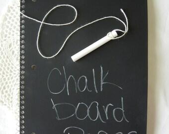 Chalk board school notebook