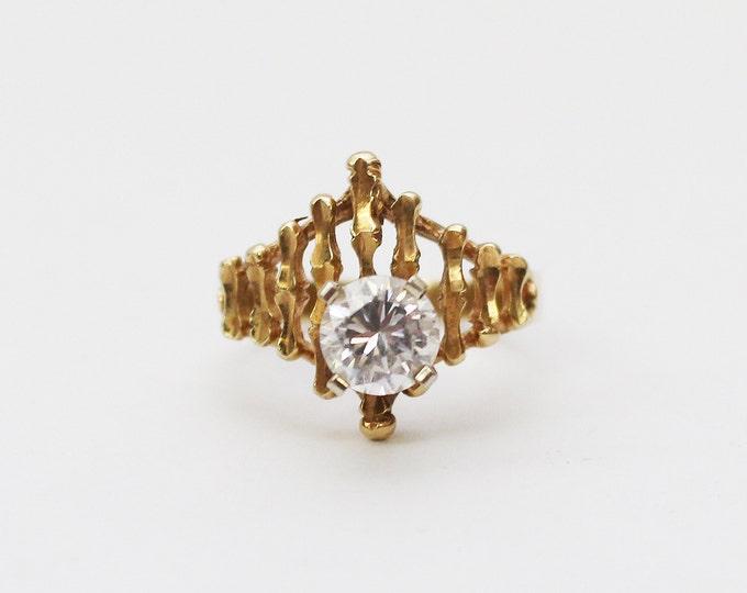 Vintage 14K Gold Cocktail Ring - Size 6
