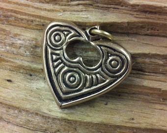 01.134.BZ  Raven Heart Pendant