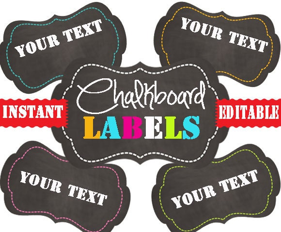 Chalkboard labels printable labels instant and editable zoom pronofoot35fo Images