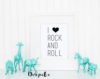 Print - I love rock and roll